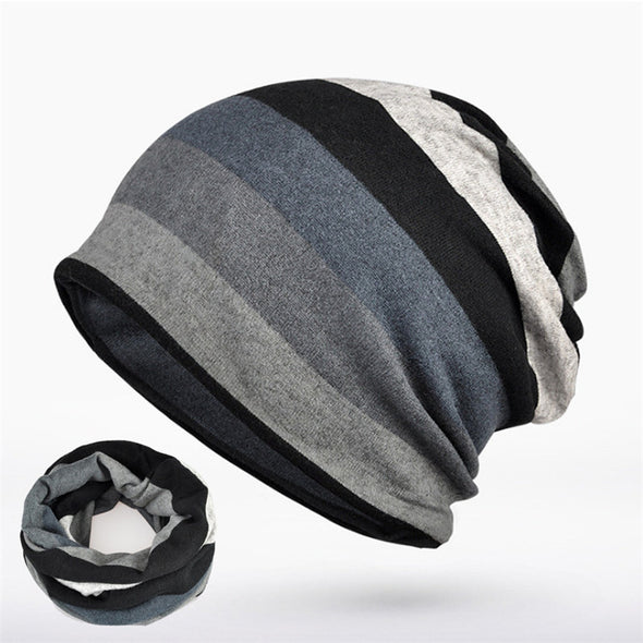 Double Layers Cotton Hat Beanie - antianti