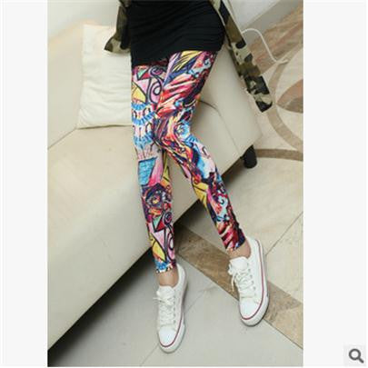 Printed Legging Pants - Elasticity Leggings - antianti