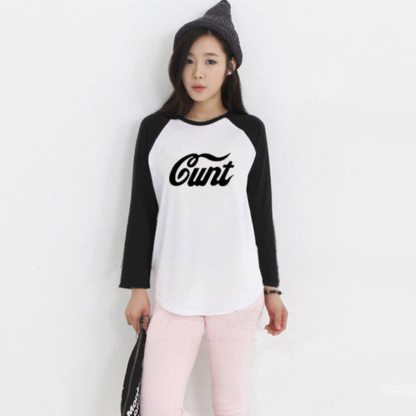 Cunt Letter Printed TShirt - antianti