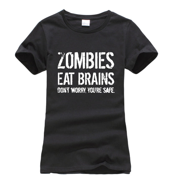 Zombies Eat Brains so You're Safe TShirt - antianti