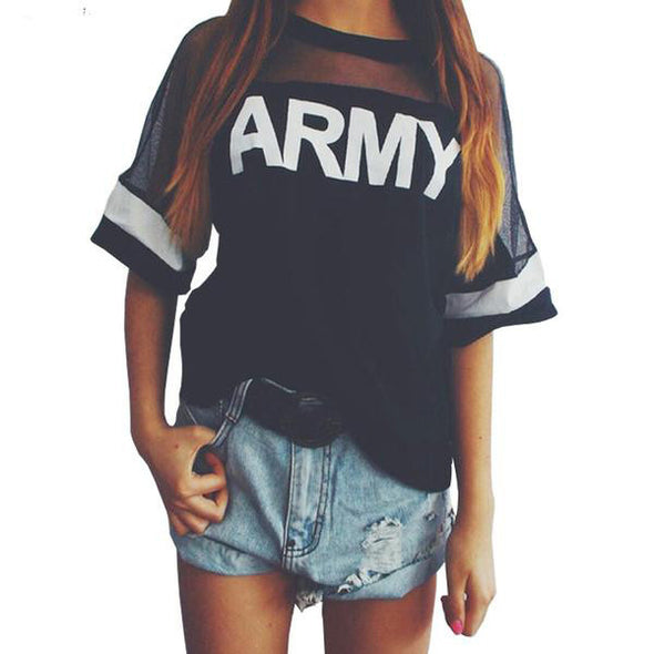 ARMY Print T-Shirt - antianti