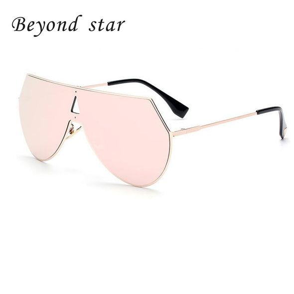 Semi-Rimless Sunglasses - Reflective Lens - antianti