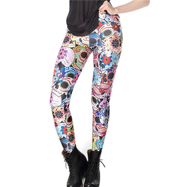 Cosmic Galaxy Printed Leggings - antianti