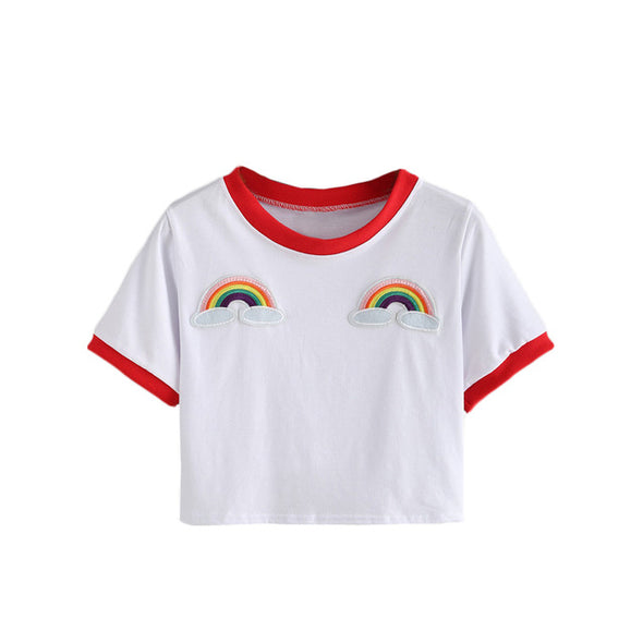 Rainbow Patch T shirts - antianti