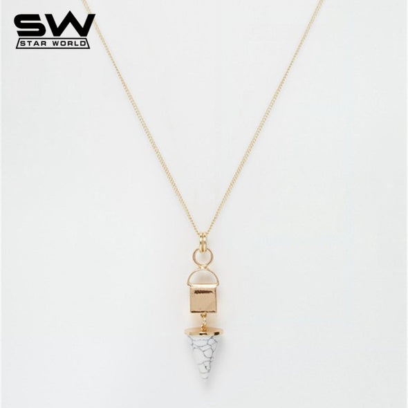 Exaggerated Long Pendant Necklace - antianti