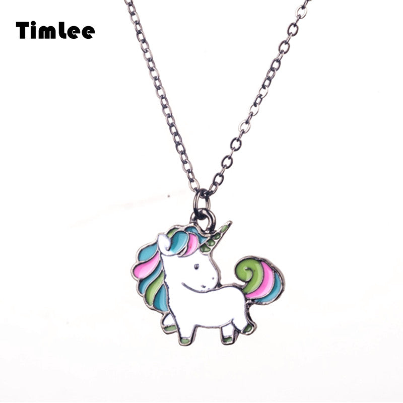 Unicorn Design Metal Necklace - antianti