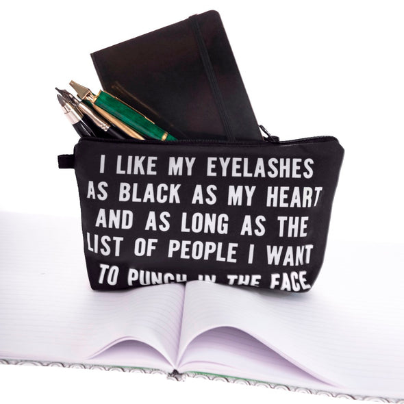 I Like My Eyelashes Makeup Bag - antianti