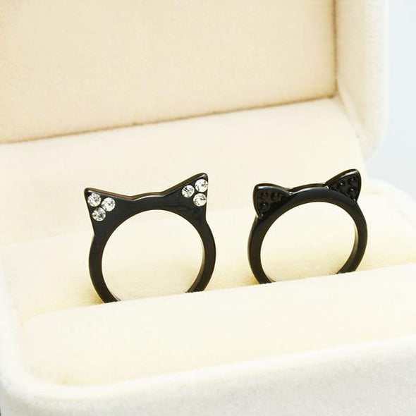 Black kitty ring - antianti