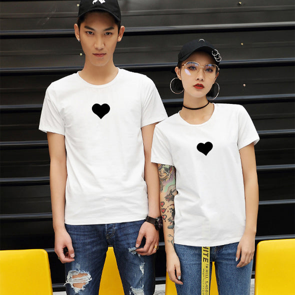 Black Love Heart T Shirt - antianti