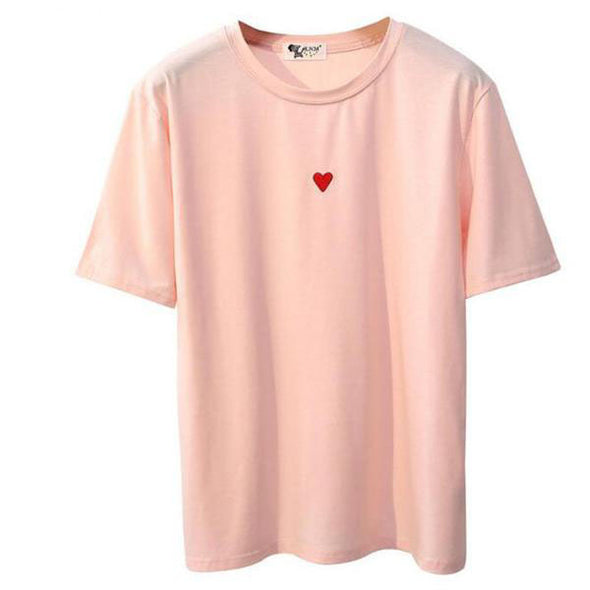 Heart Embroidery TShirt - antianti