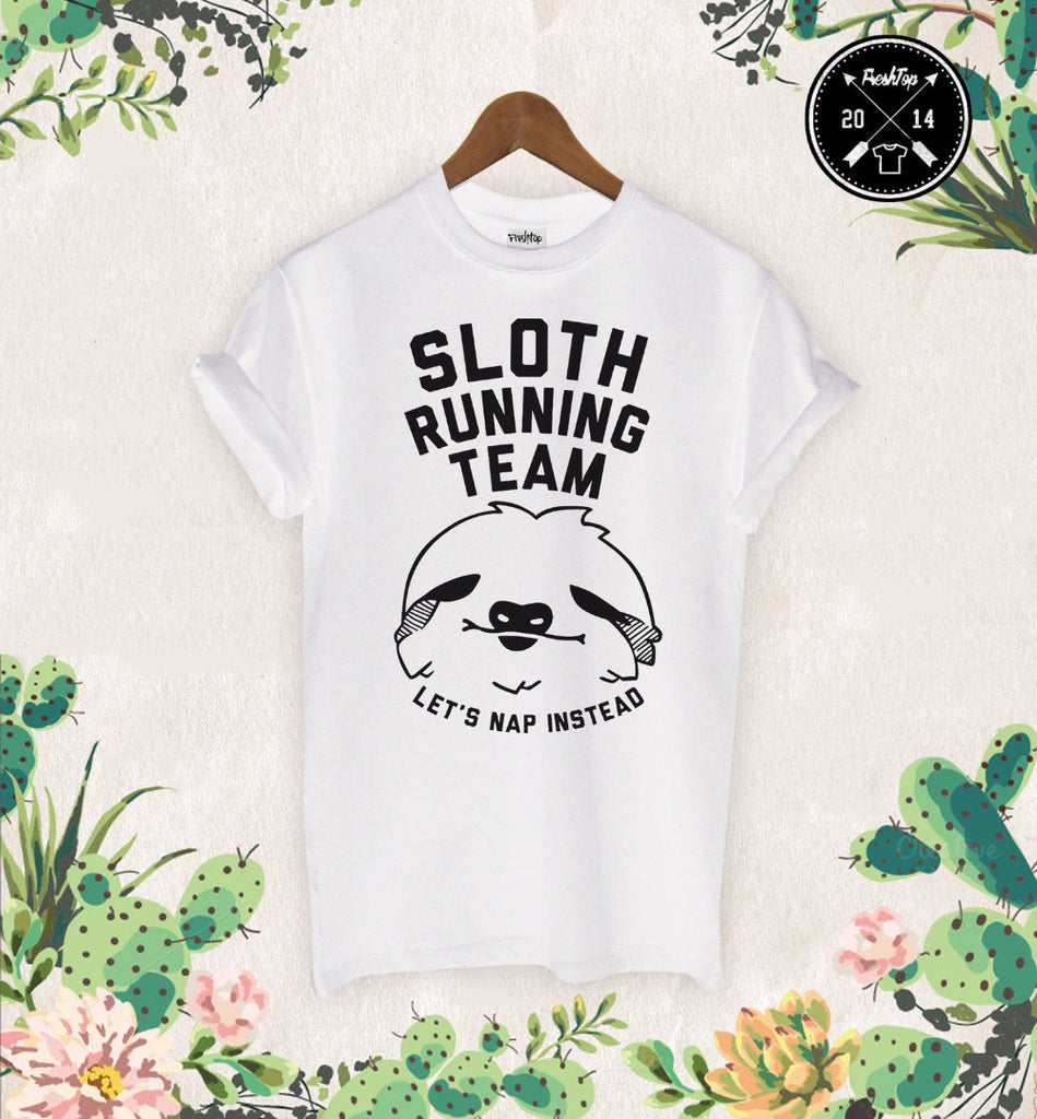 Sloth running team T-Shirt - antianti