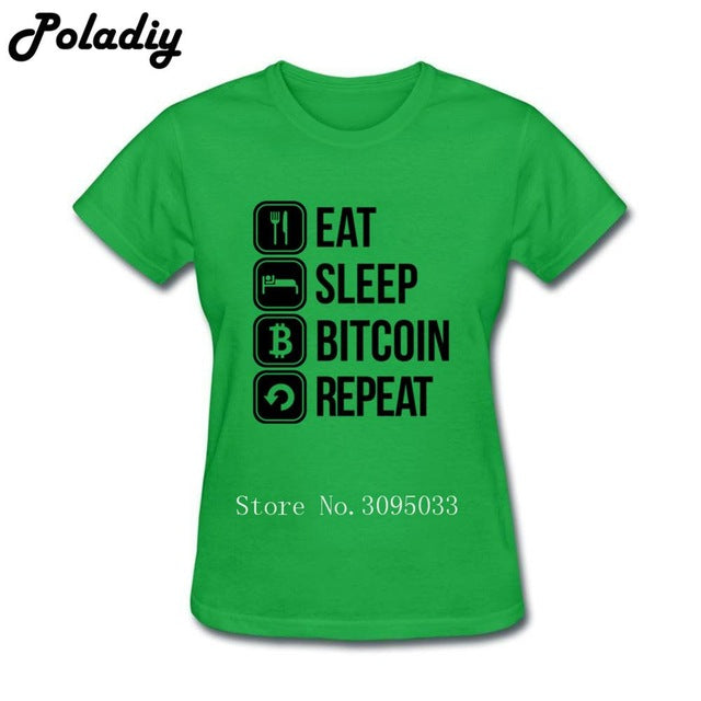eat sleep bitcoin repeat T-Shirt - antianti