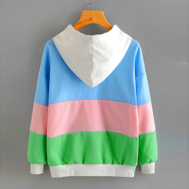 Colorful Rainbow Striped Pullover - antianti