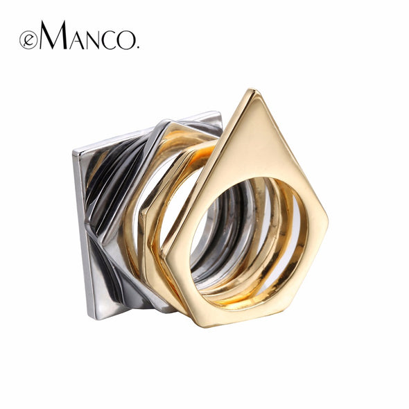 Steampunk Stacking Rings - Geometric - antianti