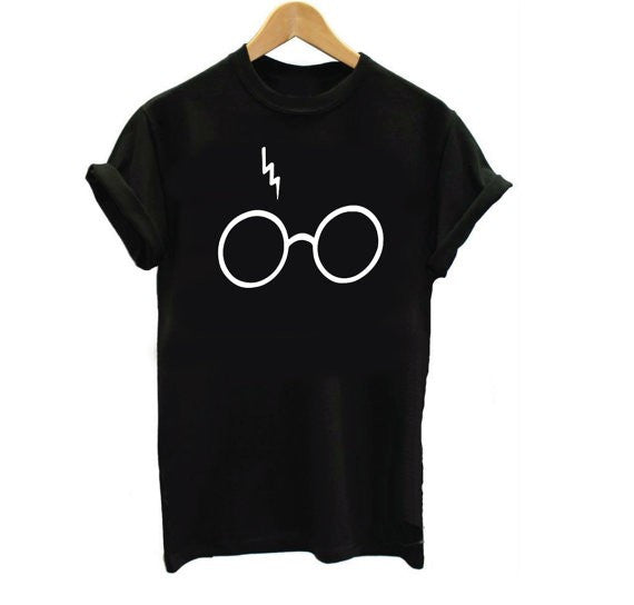 Tshirt Harry Potter Lightning Glasses - antianti
