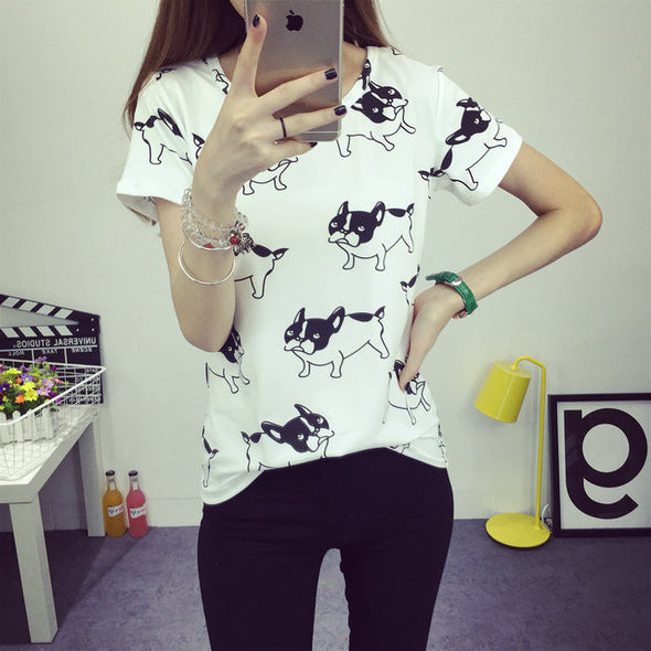 Dog Print T-shirt - antianti