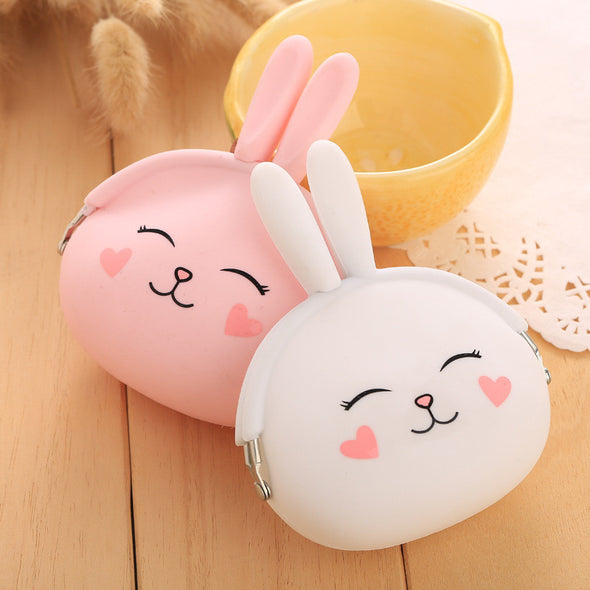 Rabbit  Coin Purse / Wallet - Soft Silicone - antianti