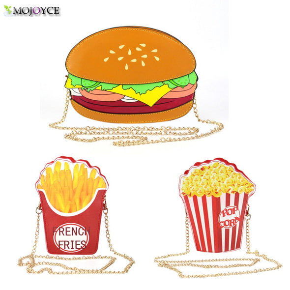 Hamburger/Popcorn Shape Crossbody Bag Small - antianti