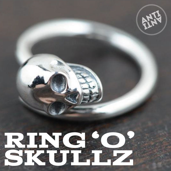 Sterling Silver skeleton skull ring - antianti