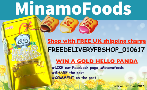 Hello panda gold strawberry milk chocolate flavour free delivery code giveaway