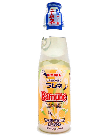 Japanese Ramune 200ml Yuzu Japanese Citrus ラムネ 200ml ゆず味