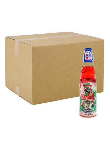 Japanese Ramune Water Melon 200ml 18 Bottles  ラムネ スイカ味 18本セット