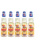 Japanese Ramune 200ml 5 Bottles Yuzu Japanese Citrus ラムネ 200ml ゆず味 5本セット