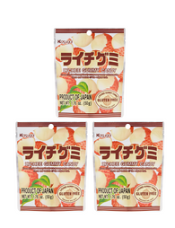 LYCHEE GUMMY CANDY 50g Pack of 3 ライチ グミキャンディー 3個セット