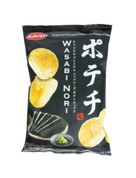 JAPANESE POTATO CHIPS WASABI NORI 100g ポテチ わさびのり 100g