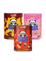 Giant Hello Panda Choco | Double Choco | Strawberry Set  260g x 3 boxes