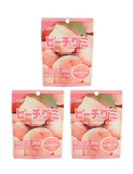 PEACH GUMMY CANDY 50g Pack of 3  ピーチ グミキャンディー 3 個セット