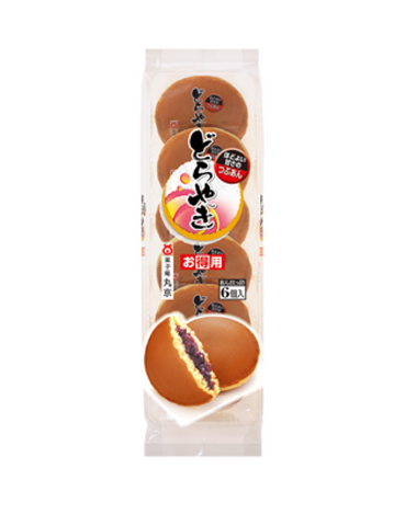 Japanese Pancake Dorayaki Red Beans Original 310g 6pc どら焼き つぶあん