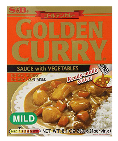 GOLDEN CURRY SAUCE WITH VEGETABLES MILD  ゴルデンカレー レトルト 甘口  230g
