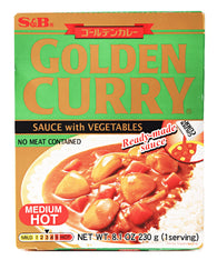 CURRY SAUCE WITH VEGETABLES MEDIUM HOT  ゴールデンカレー レトルト 中辛  230g