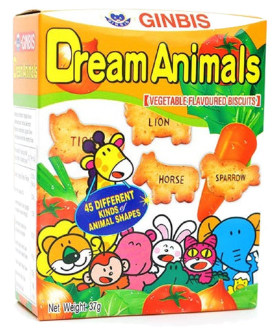 Dream Animals Biscuits VEGETABLE  たべっ子どうぶつ 野菜味  37g