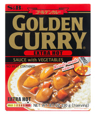 GOLDEN CURRY SAUCE WITH VEGETABLES EXTRA HOT  ゴールデンカレー レトルト 大辛 230g