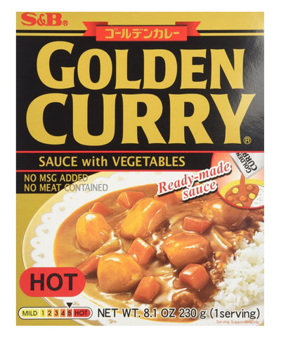 GOLDEN CURRY SAUCE WITH VEGETABLES HOT  ゴールデンカレー レトルト 辛口 230g