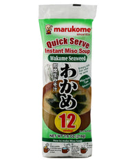 QUICK SERVE INSTANT MISO SOUP WITH WAKAME SEAWEED  即席生みそ汁わかめ  216g (12 servings)