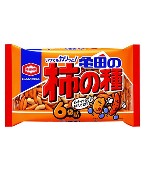 KAKINO TANE SPICY RICE CRACKERS 6 packs 200g  柿の種 6袋詰