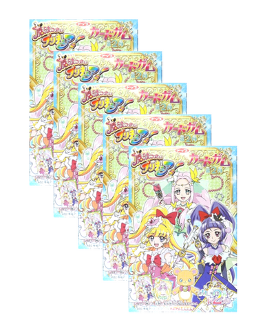 PRECURE COLLECTABLE CARD GUM 20g Pack of 5 プリキュア ガム コレクターズカード付 5枚セット