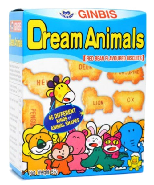 Dream Animals Biscuits Red Bean   たべっ子どうぶつ あずき  37g