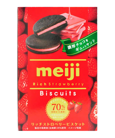 RICH CHOCOLATE STRAWBERRY BISCUITS  リッチ いちごビスケット 6pc 96g