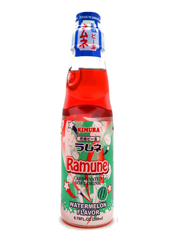 Japanese Ramune 200ml Water Melon ラムネ 200ml スイカ味