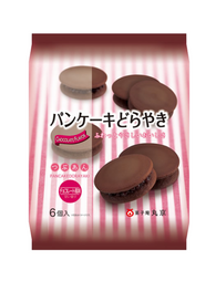 Japanese Pancake Dorayaki Flavour Chocolate 6pc 310g パンケーキどらやき チョコレート 6pc 310g