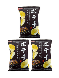 JAPANESE POTATO CHIPS TERIYAKI 100g Pack of 3 ポテチ てりやき 100g 3個セット