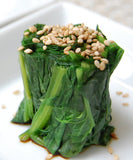 ohitashi spinach with sesame seeds