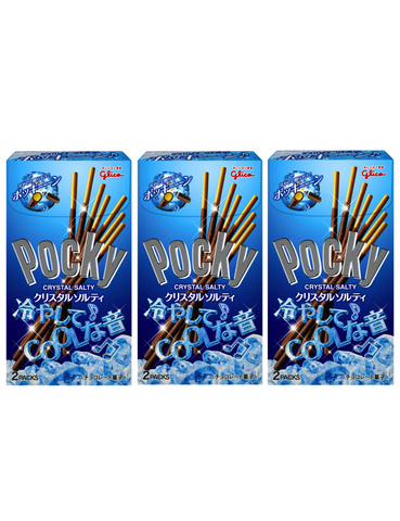 POCKY CRYSTAL SALTY POCKY JAPAN MADE Pack of 3 ポッキークリスタルソルティー 2袋入り 3個パック