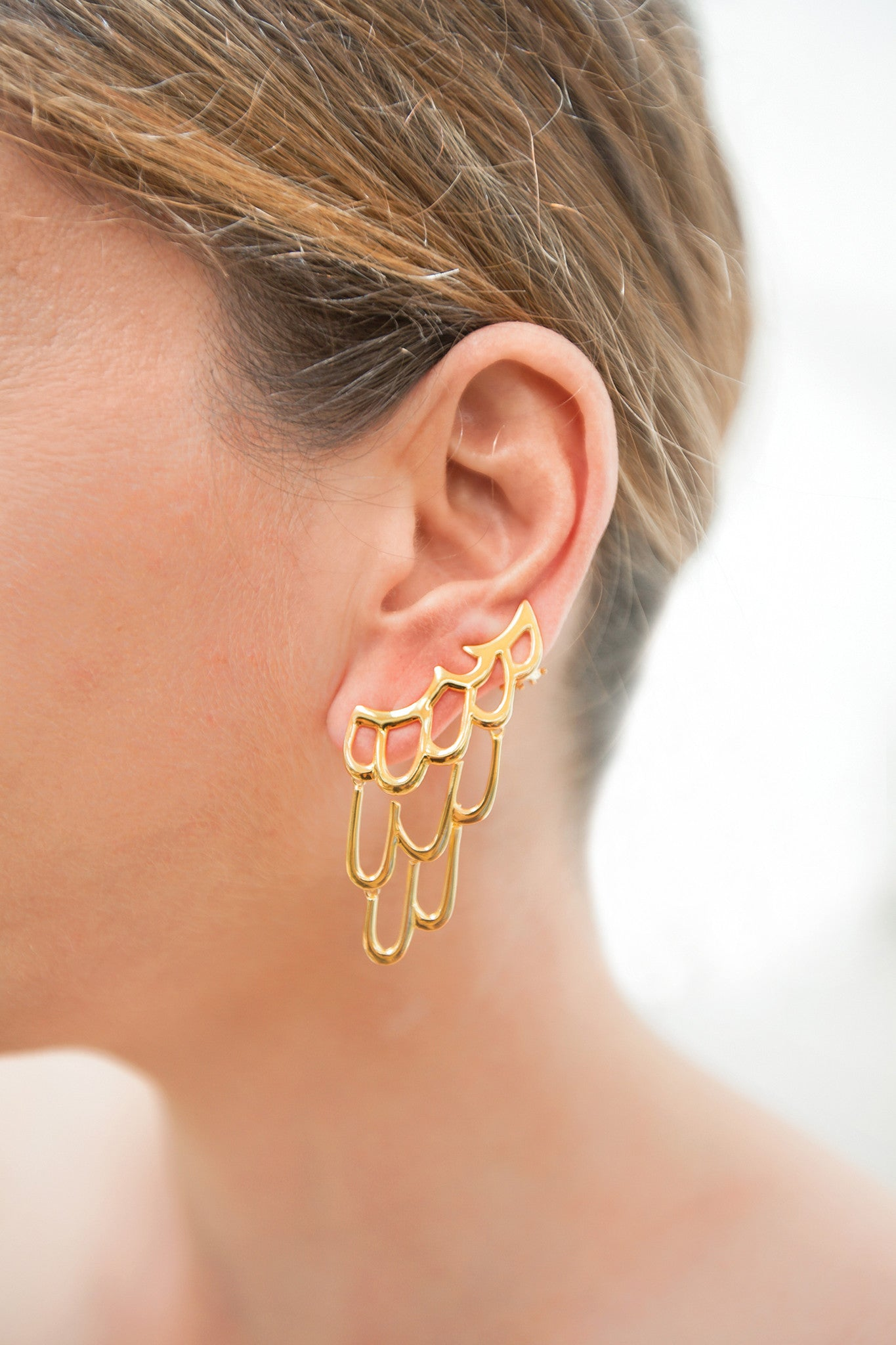LARGE SIREN EAR CUFF - GOLD