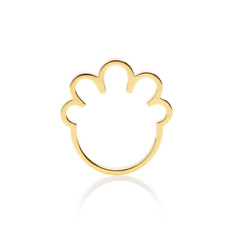 BIG PERM-TASTIC RING - GOLD