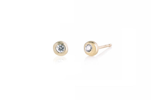 DIAMOND CIRCLE KEY EARRING